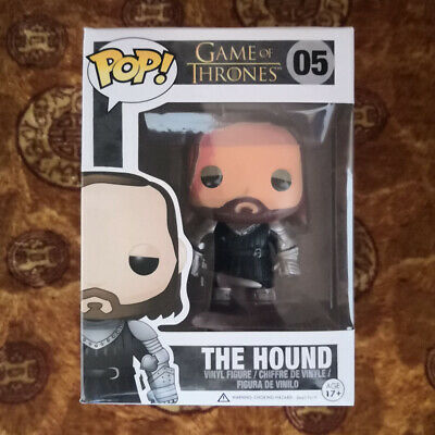 Funko POP Game Of Thrones The Hound #05 Vaulted with BOX and Protector case