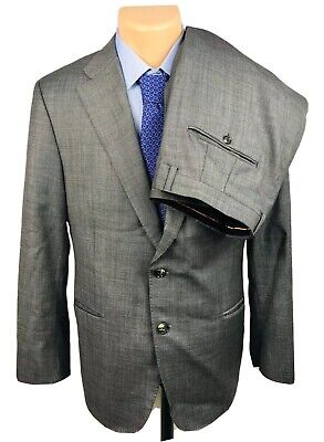 Hickey Freeman Gray Recent Beacon Wool 2 Btn Suit Size 42S Pants 34X28 NWOT