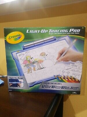 Crayola Light-up Tracing Pad Blue, Coloring Board for Kids, Gift, Toys for Boys