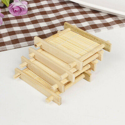 Natural Bamboo Wood Bathroom Shower Soap Tray Dish Storage Holder Plate New