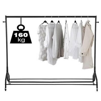 Clothes Rail Rack Garment Coat Hanging Display Stand Shoe Rack Storage Shelf 6ft