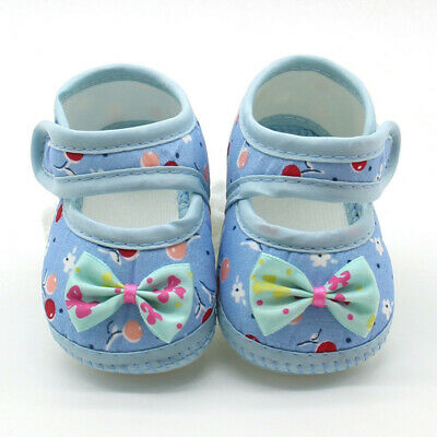 Newborn Infant Baby Girl Casual Soft Sole Prewalker Cotton Warm Bow Shoes