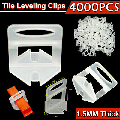 2000/4000x Tile Leveling System Clips Spacer Tiling Tool Floor Wall 1.5mm AU
