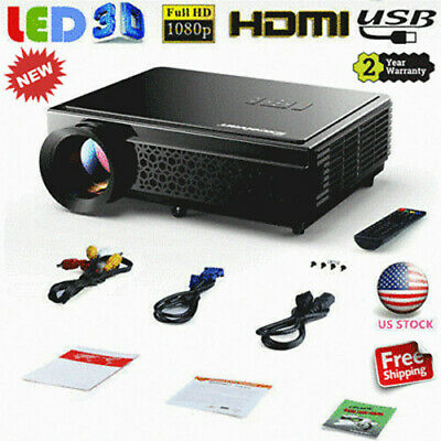 5000LM LED HD 1080P 3D Projector HDMI VGA AV Home Cinema Theater PS4 / TV-Box