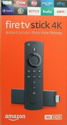 New Fire TV Stick 4K with Alexa Voice Remote, streaming media player Latest 2019