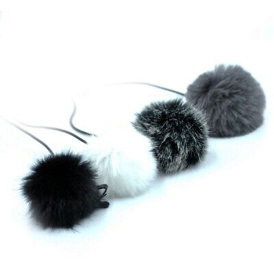 1X(Universal Lavalier Microphone Furry Windscreen Fur Windshield Wind Muff E5R7