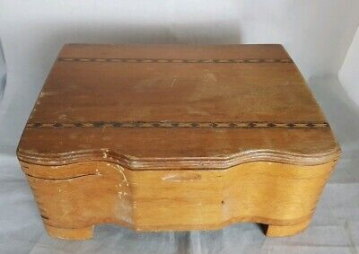 Beautiful Vintage Wooden Storage Box (Width - 22 cm)
