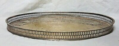Beautiful Vintage Heavy Silver Plated Gallery Tray by Viners (Length - 38 cm)