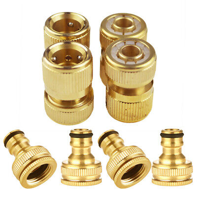 """1/2"""" 3/4"""" Brass Water Hose Pipe Connector Tap Adaptor 12mm Equipment for Garden"""