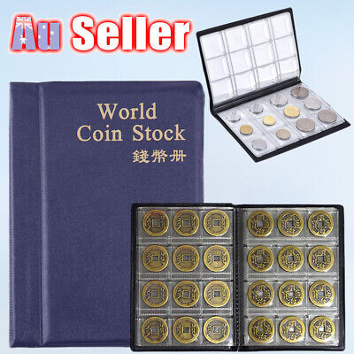 120 Coins Holder Penny Collection Pockets Album Book Money Storage Collecting