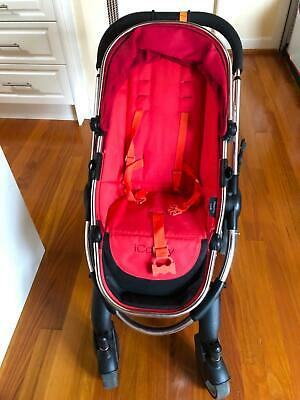 Icandy peach pram in red