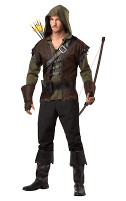 Mens Robin Hood Costume Fairy Tale Knight Medieval Game Of Thrones Fancy Dress