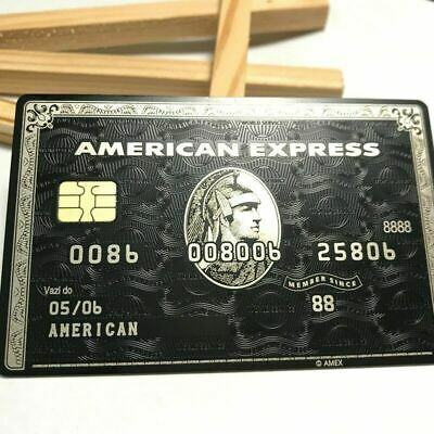 American Express Centurion Black Card Metal With Chip Costumized Rare
