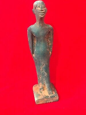 ANCIENT EGYPTIAN Blue GLAZED FAIENCE STATUETTE 11.9cm Tail