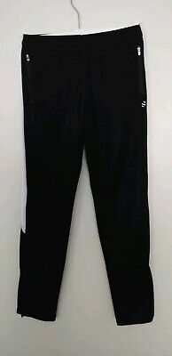 Boys Black Tracksuit Bottoms/Joggers by H&M Sports Size 11-12 Years(EUR 146-152)