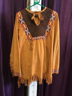 """Deluxe Native American Indian Brave Costume - L , 44"""""""