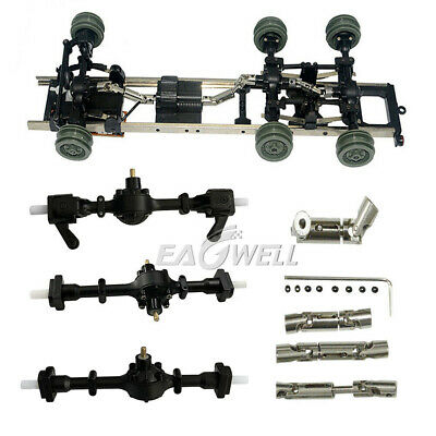 Metal Gear Sturdy Front +Central+ Rear Axle+ Shaft Drive KIT For WPL Ural B16 RC