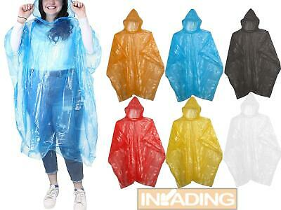 Adults Waterproof Poncho Cape Rain Mac Walking Fishing Biking Camping
