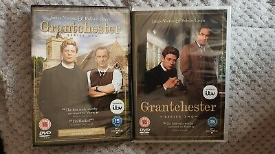 Grantchester Series 1 and 2 NEW SEALED Region 2 DVD SET Robson Green  and James