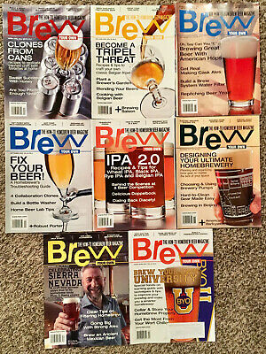 BREW YOUR OWN MAGAZINE - 2012 8 ISSUE LOT! Craft Beer Brewing Brewery Homebrew