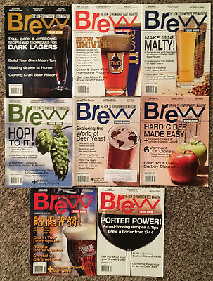 BREW YOUR OWN MAGAZINE - 2013 8 ISSUE LOT! Craft Beer Brewing Brewery Homebrew