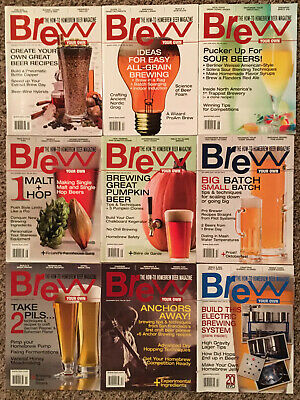 BREW YOUR OWN MAGAZINE - 2014 9 ISSUE LOT! Craft Beer Brewing Brewery Homebrew