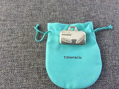 Vintage Tiffany&Co Sterling Silver Pill Box Suitcase Travel Luggage