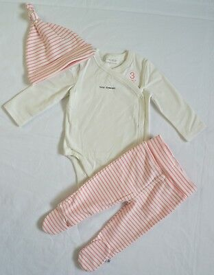 BNWT Next Baby Girl Pink 3 Piece Outfit 3-6 Months, Bodysuit, Hat, Leggings