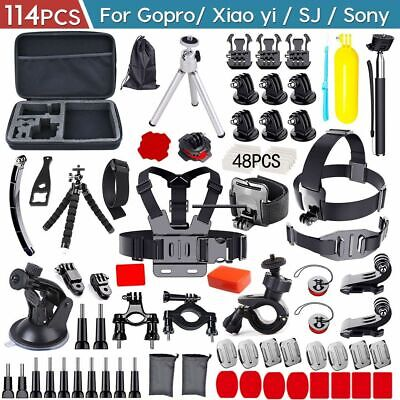 114PCS Camera GoPro Accessories Kit Action Camera Mount Full Accessory Set Sport