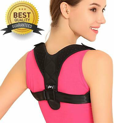 Posture Corrector Adjustable Men Women Shoulder Brace Back Support Strap Belt AU