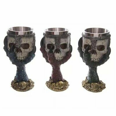 Creative Stainless Steel 3D Skull Goblet Beer Mug Drinking Cup S7