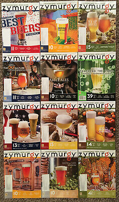 ZYMURGY MAGAZINE - 12 ISSUE LOT! 2013 - 2015 Craft Beer Brewing Brewery Homebrew