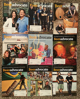 BEER ADVOCATE MAGAZINE - 2015 9 ISSUE LOT! Craft Beer Brewing Brewery Homebrew