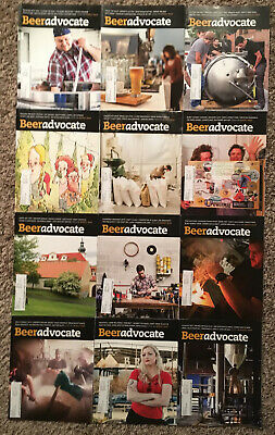 BEER ADVOCATE MAGAZINE - 2014 12 ISSUE LOT! Craft Beer Brewing Brewery Homebrew