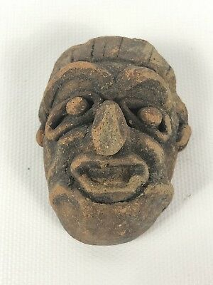 Ancient Aztec Native American Pihil masks Clay Pottery 400ad figures Nahuatl