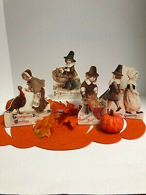 Bethany Lowe Thanksgiving Dummy Boards: (RL9183) ( Set of 4)