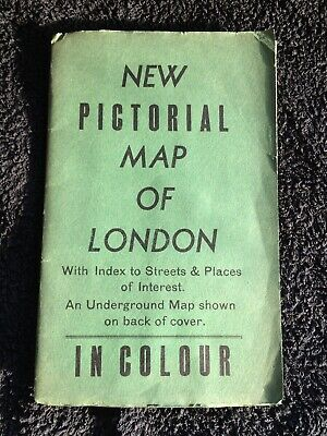 Pictorial Colour Map Of Post War London