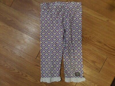 guc girls naartjie leggings size 5 years-white floral