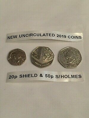 50p Coins 2019 & 20p Coin 2019 - 3 COINS IN TOTAL - BRITISH COIN HUNT - LOT2