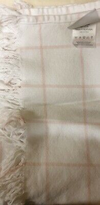 The Little White Company - Blanket (70cm X 110cm) - White/Pink - Used In V.Good