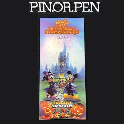 2019 MNSSHP Event & Park Map Plus Time Guide Mickeys Halloween Party Disney WDW