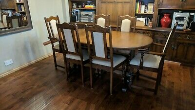 Old Charm Oak Extending Oval Dining Table