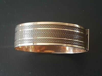 Antique rolled rose gold ladies bracelet bangle early/mid 20th Century art deco
