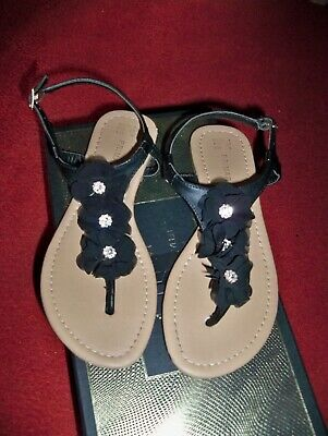 Girls Type Of Sandal Black With Stones Size 4 By Primark Good Condition.