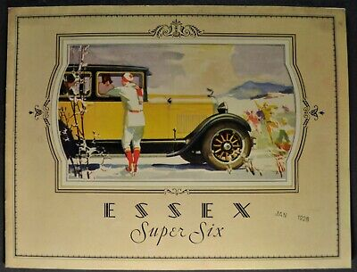 1928 Essex Super Six 6 Catalog Sales Brochure Sedan Coach Coupe Nice Original 28