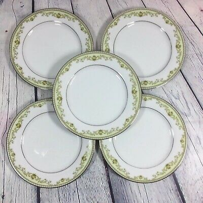 5 Noritake Raleigh (2487) Salad Plates Contemporary Fine China - 8.25""