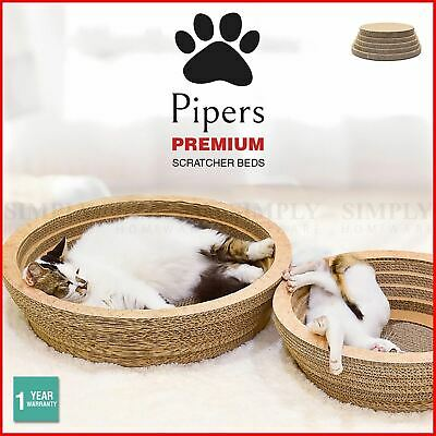 Pipers Cat Scratcher Round Cardboard Bed Lounge Sofa Pet House Post Board Large