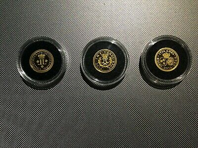 2006,2007,2008 Gold $1 Louis D'OR Proof RCM Coins