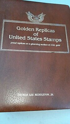 Golden Replicas Of United States Stamps 22K Gold with Album 1985