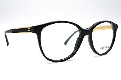 New Chanel 3279-Qc.622 Black Gold  Authentic Eyeglasses Frame Rx 51-16 Italy #4